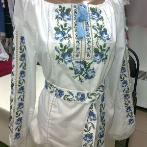 Camicia bianca ricamata