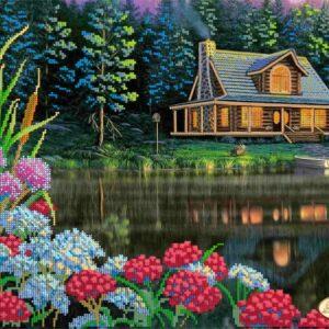 "quadro ""Casetta al lago"""