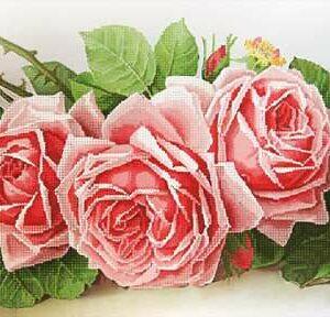 """""""La France Roses"""" di  Paul de Longpre. Schema ricamo a perline"""