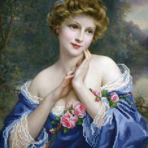"""Rosa d'estate"" di  François Martin-Kavel. Schema ricamo a perline"