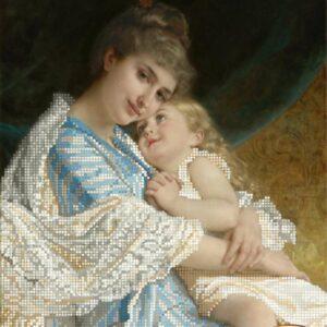 """""""Un tenero abbraccio"""" di Emile Munier. Schema ricamo a perline"""
