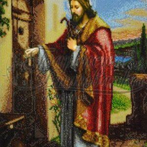 """""""Gesù bussa alla porta"""". Schema ricamo a perline"""