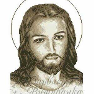 """""""Gesù"""". Monocrome-beige. Schema ricamo a perline"""