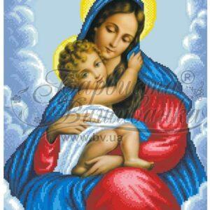 """""""Madonna delle grazie"""". Schema ricamo a perline"""
