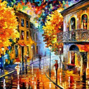 """""""I colori dell'autunno"""".  Schema ricamo a perline"""
