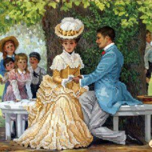 """""""Proposta di matrimonio"""".  Schema ricamo a perline"""
