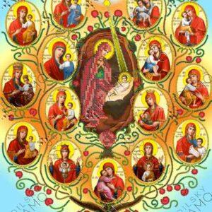 """""""Albero della Vergine"""". Schema ricamo a perline"""