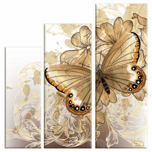 """""""Farfalla con le ali vellutati"""". Schema ricamo a perline"""