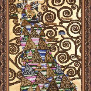 """""""L'albero della vita. Aspettativa"""" di Gustav Klimt. Kit ricamo a perline"""