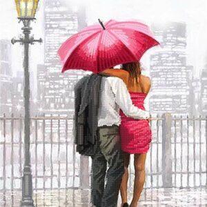 """Rendez-vous sotto ombrello""-02. Schema ricamo a perline"