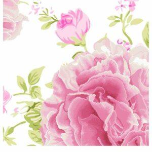 """Energia d'amore. Peonie rosa"". Schema ricamo a perline"
