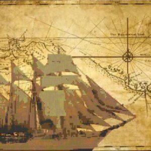 """""""La mappa antica. Nave"""". Schema ricamo a perline"""