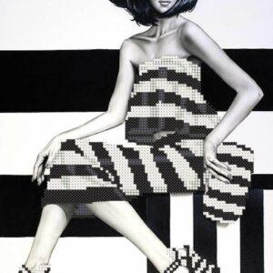 """Lady fashion"". Schema ricamo a perline"