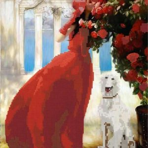 """Lady In Red"". Schema ricamo a perline"