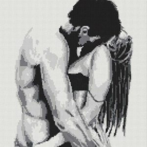 """""""Passione d'amore"""". Schema ricamo a perline"""