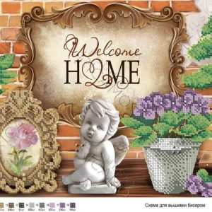 """Welcome HOME"". Schema ricamo a perline"