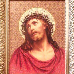 """""""Gesù incoronato di spine"""". Schema ricamo a perline"""