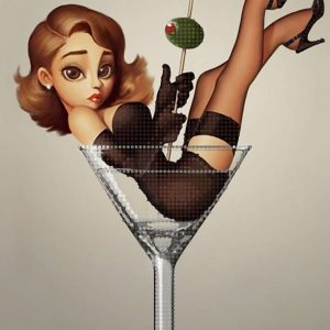 """""""Martini con oliva"""". Schema ricamo a perline"""
