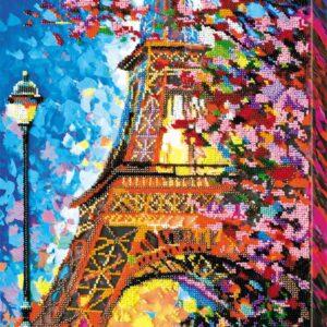 """""""Colori di Parigi. Torre Eiffel"""". Kit ricamo a perline"""