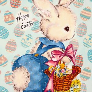"""Happy Easter. Coniglio"". Schema ricamo a perline"