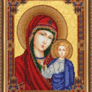 """""""Madonna di Kazan'"""". Kit ricamo a perline"""
