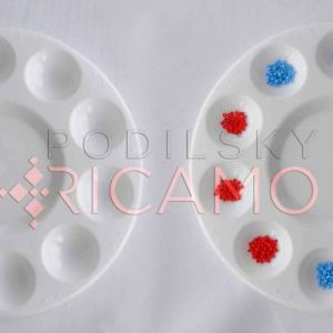 Piattino (bianco) mettere perline