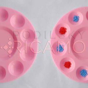 Piattino (rosa) mettere perline