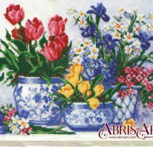 """""""Primi fiori della primavera"""". Kit ricamo a perline"""