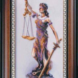 """""""Temi. La dea della giustizia"""". Kit ricamo a perline"""
