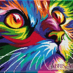 """Pop art. Gatto"". Kit ricamo a perline"