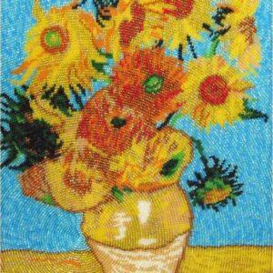 """""""Vaso con dodici girasoli"""" di Vincent Van Gogh. Kit ricamo a perline"""