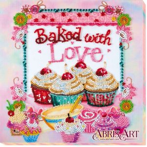 """Baked with Love"". Kit ricamo a perline"