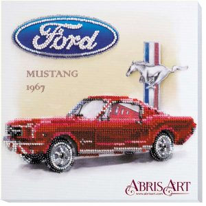 """Ford Mustang 1967"". Kit ricamo a perline"