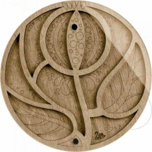 Piattino di legno con coperchio