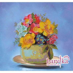 """Bouquet piccolo"". Schema ricamo a perline"