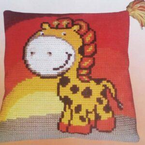 """""""Giraffa allegra"""". Kit-ricamo per cuscino"""