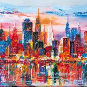 """""""I colori della sera nella citta moderna"""". Kit ricamo a perline"""