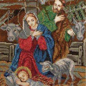 """""""Il Natale""""-02. Schema ricamo a perline"""