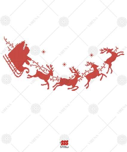 Slitta Di Babbo Natale Fai Da Te.Slitta Di Babbo Natale In Rosso Sottoalbero Di Natale Con Ricamo A