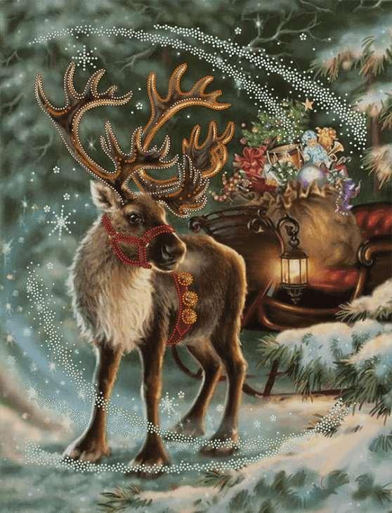 Immagini Renna Di Babbo Natale.Renna Di Babbo Natale Schema Ricamo A Perline