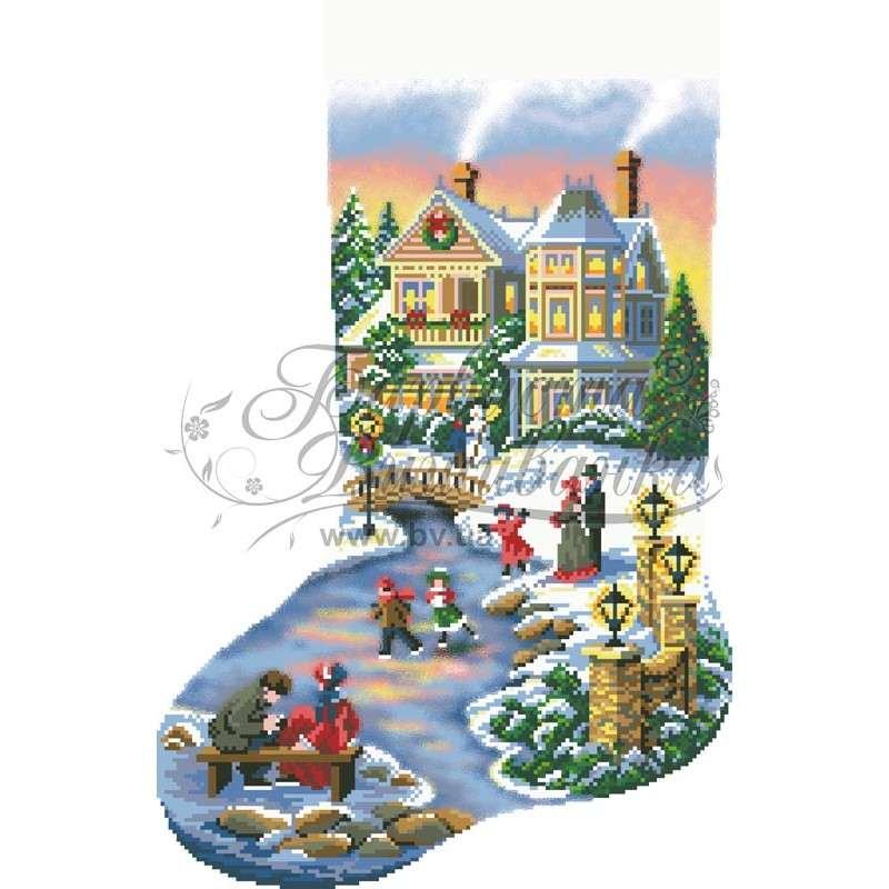 Immagini Natale Vittoriano.Il Natale Vittoriano Calza Di Natale Ricamo A Perline Perlinissima