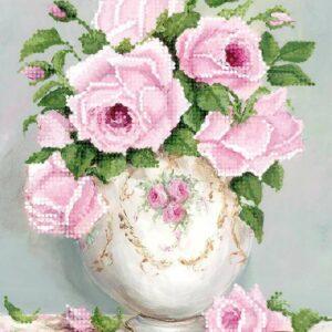 """Bouquet di rose in stile Shabby Chic""-02. Schema ricamo a perline"