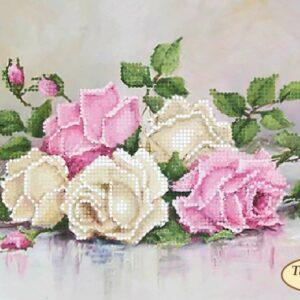 """""""Le rose in stile Shabby Chic"""". Schema ricamo a perline"""