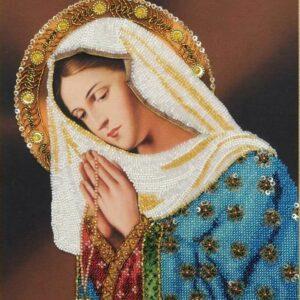 """Santa Maria prega per noi"". Kit ricamo a perline"