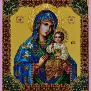 """""""Madre di Dio fiore immarcescibile"""". Kit-icona ricamo a perline"""