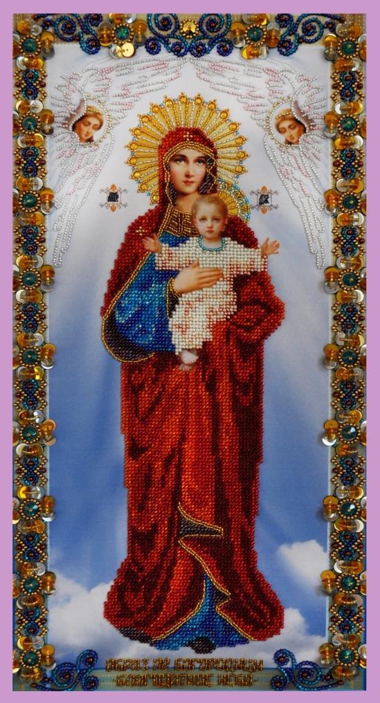 """""""Madre di Dio. Santo cielo"""". Kit-icona ricamo a perline"""