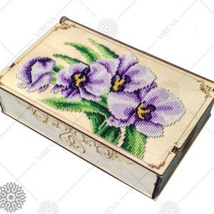 """""""Orchidea"""". Organizzatore di legno ricamo a perline"""