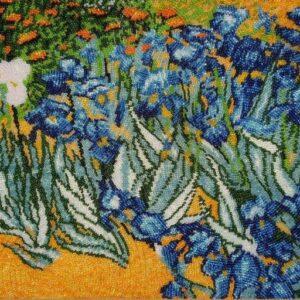 """Iris"" di Vincent Van Gogh. Kit ricamo a perline"