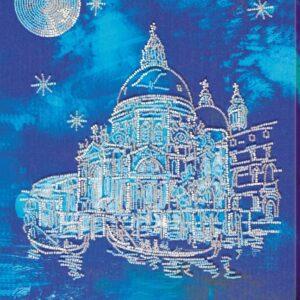"""Venezia di notte"". Kit ricamo a perline"