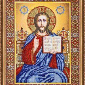"""""""Gesù Cristo in trono"""". Kit-icona ricamo a perline"""